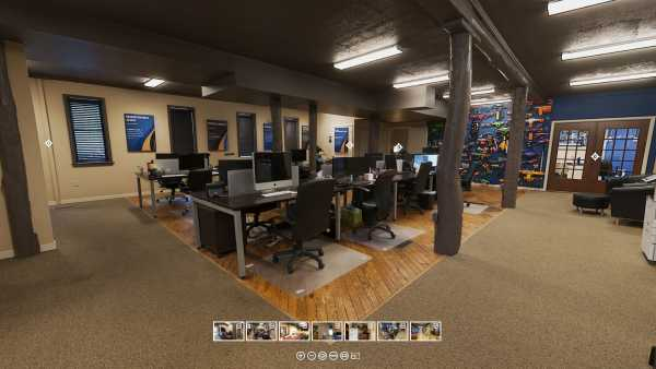 A 360 virtual tour of Sharp Innovations offices