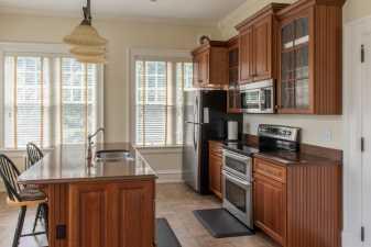 an empty kitchen