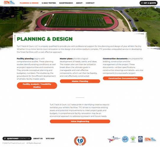 Turftrackandcourt planning design