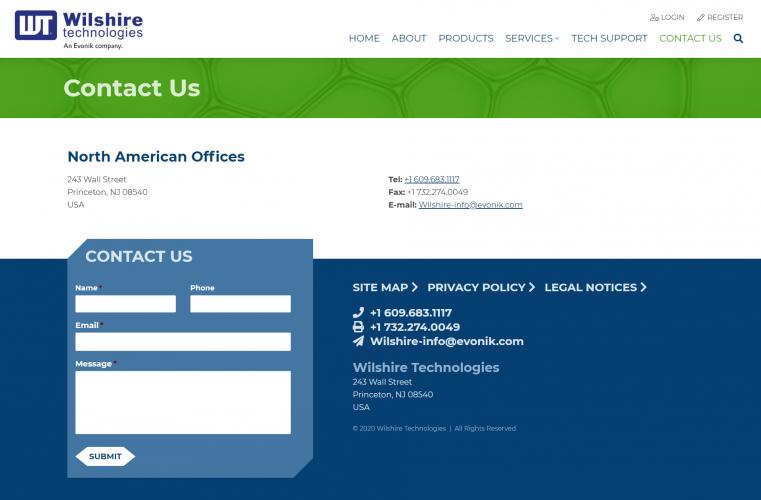 Wilshiretechnologies contact us