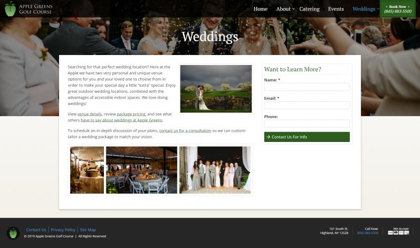 Applegreens weddings