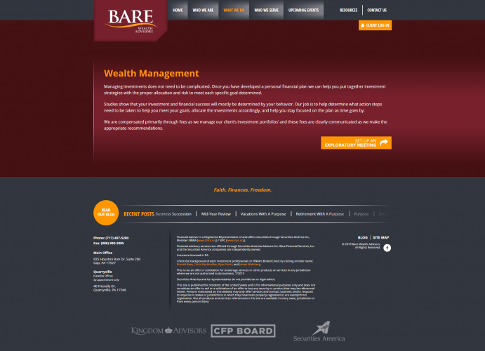 Barewealthadvisors services wealth management php