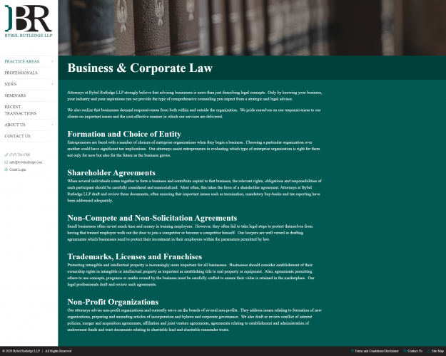 Bybelrutledge practice business corporate law