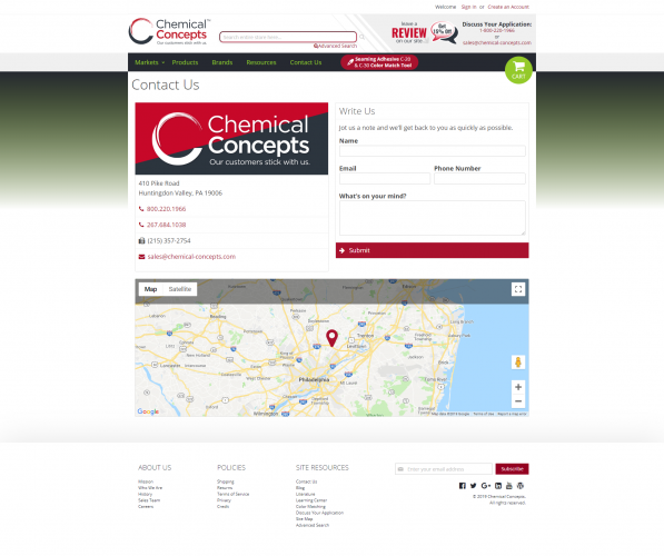 Chemical concepts contact