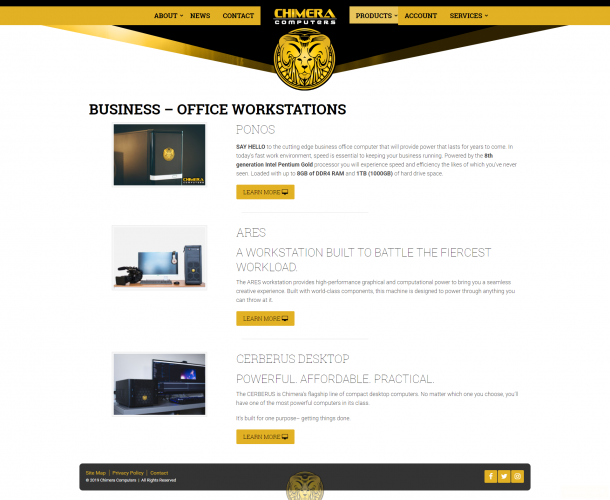 Chimeracomputers products business office workstations