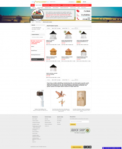 Cupolasdirect amish cupolas shed gazebo cupolas html