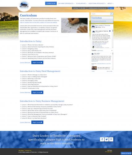 Dairyleadersoftomorrow curriculum