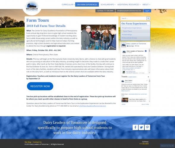 Dairyleadersoftomorrow on farm experiences farm tours