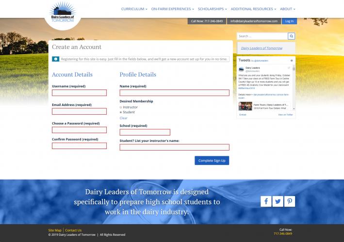Dairyleadersoftomorrow register