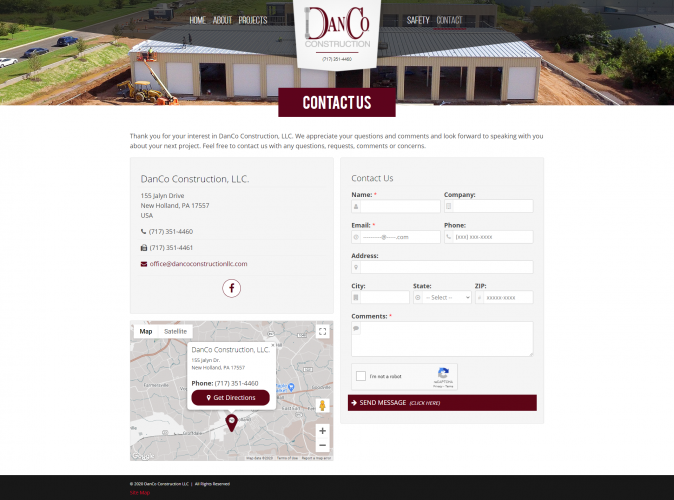 Dancoconstructionllc contact