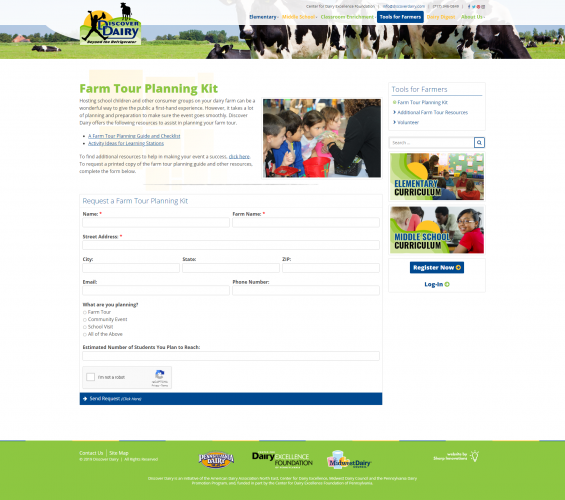 Discoverdairy tools for farmers farm tour planning kit