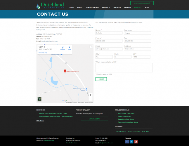 Dutchlandinc contact php