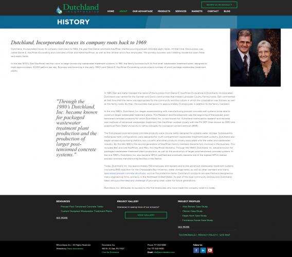 Dutchlandinc history php