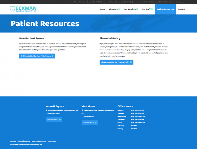 Eckmanfamilydentistry patient resources