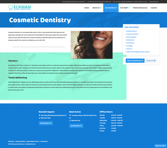 Eckmanfamilydentistry services cosmetic dentistry