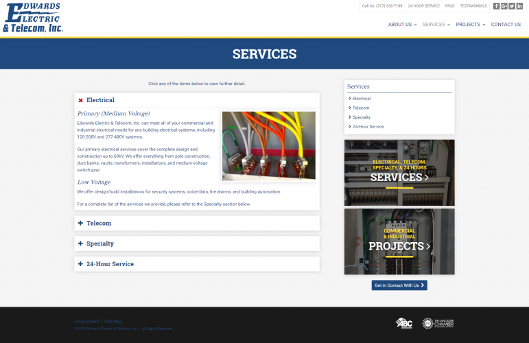 Edwardselectricinc services