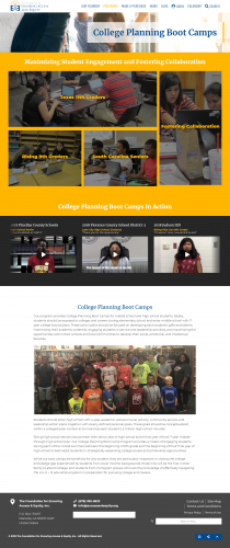 Accessandequity org programs college planning boot camps