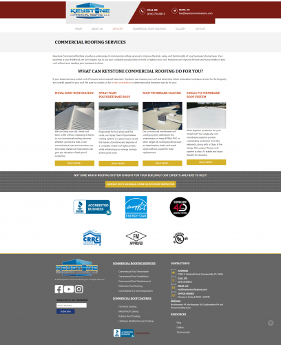 Keystonecommercialroofing services