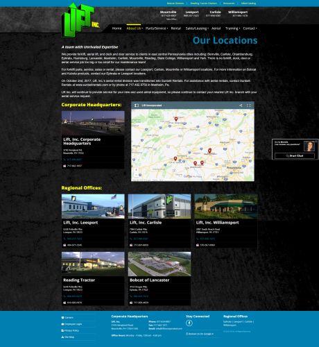Liftincorporated about locations php
