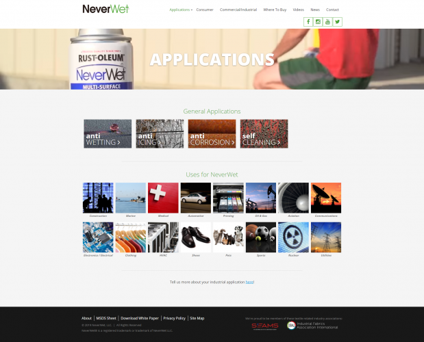 Neverwet applications index php