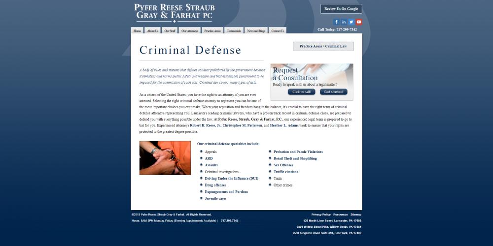 Pyferreese criminal law