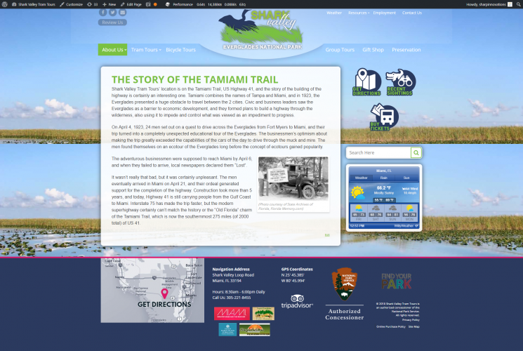Sharkvalleytramtours about us the story of the tamiami trail