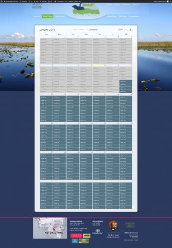 Sharkvalleytramtours calendar