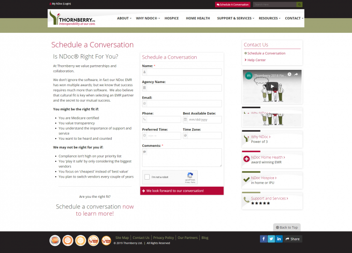 Ndocsoftware schedule a conversation