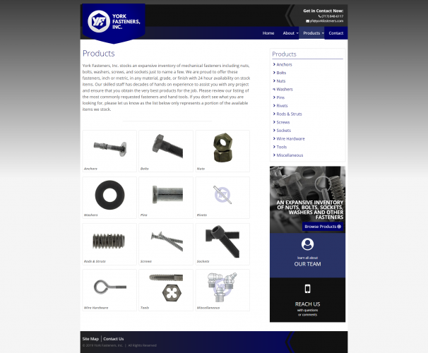 Yorkfasteners products