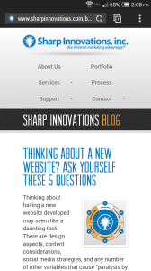 A Responsive Web Page looks good on mobile devices.