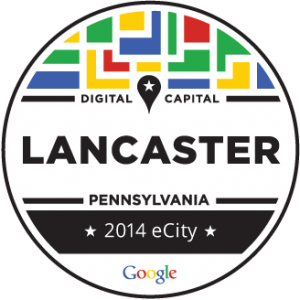Google's eCity award for Lancaster PA
