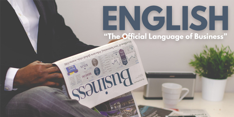 Let's Make English The Official Language of Business - Header