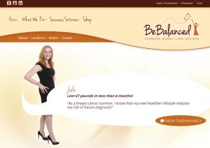 The new BeBalanced homepage