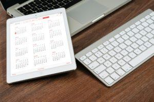 Tablet with Calendar