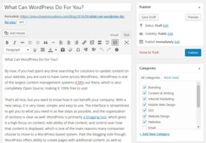 WordPress Content Editing