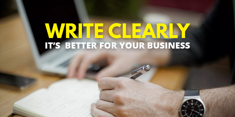 Write Clearly - It's Better For Your Business | Header