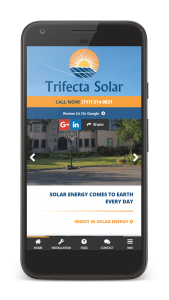 trifecta solar mobile website