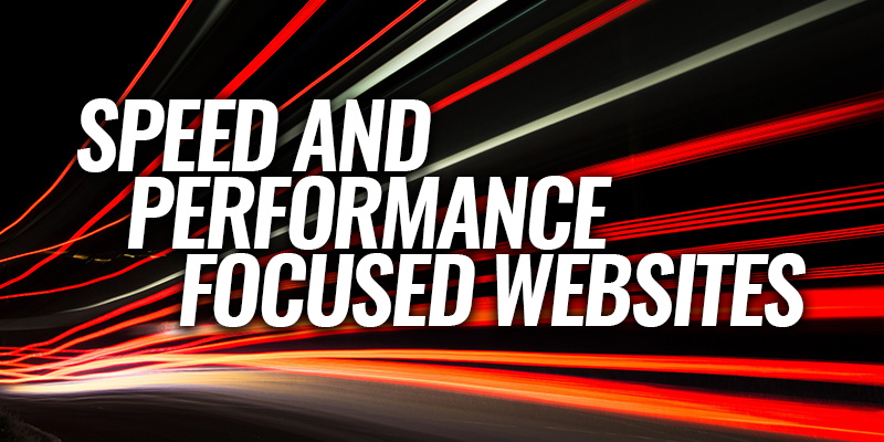 Speed and Performance Focused Websites | Header