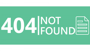 404 page not found banner