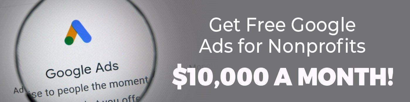 google ads for nonprofit banner