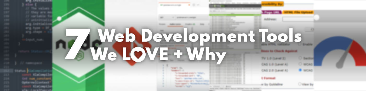 7 web development tools title