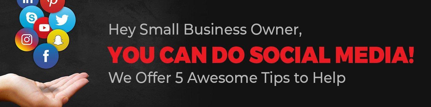 social media for business banner